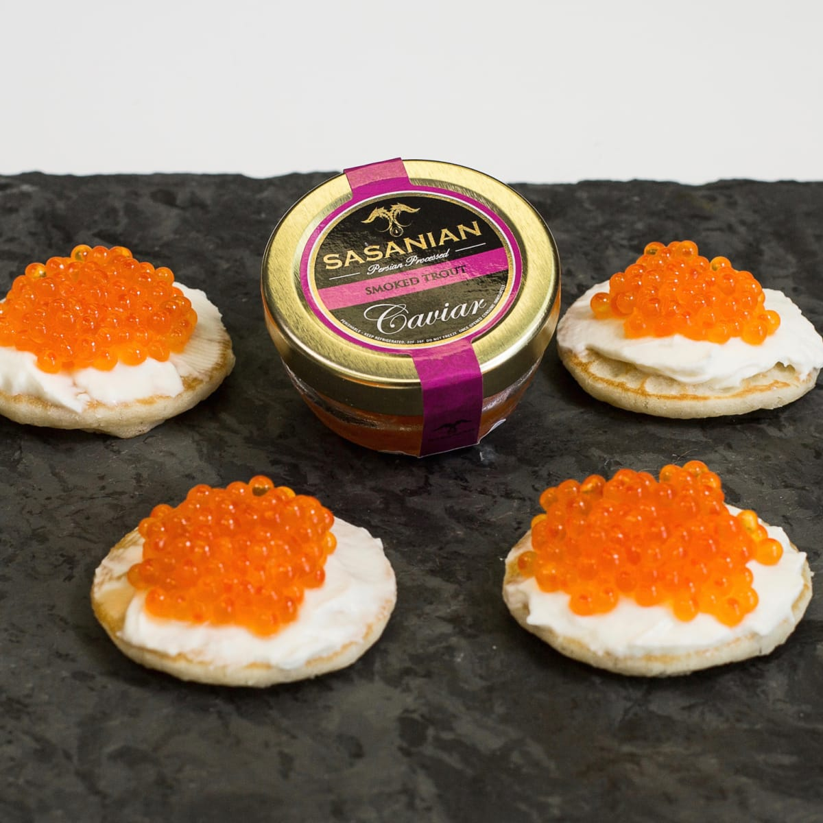 DR Delicacy smoked trout caviar