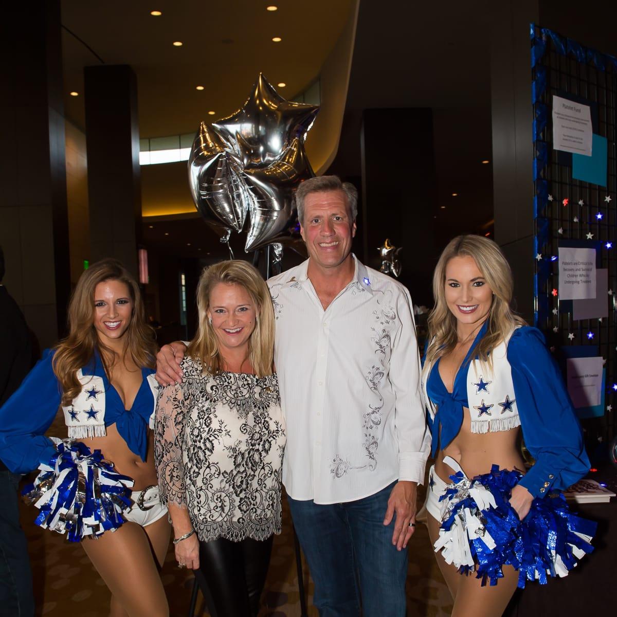 Valeria & Jeff Jones with the Dallas Cowboys Cheerleaders , EUTS 2017