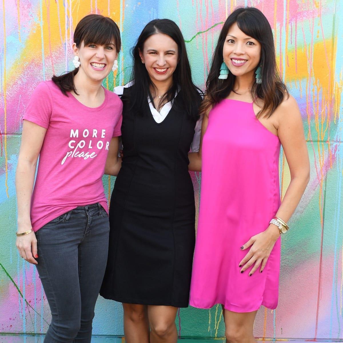 Lauren Mills, Laura Neiman, Nancy Bihlmaier at More Color Please launch