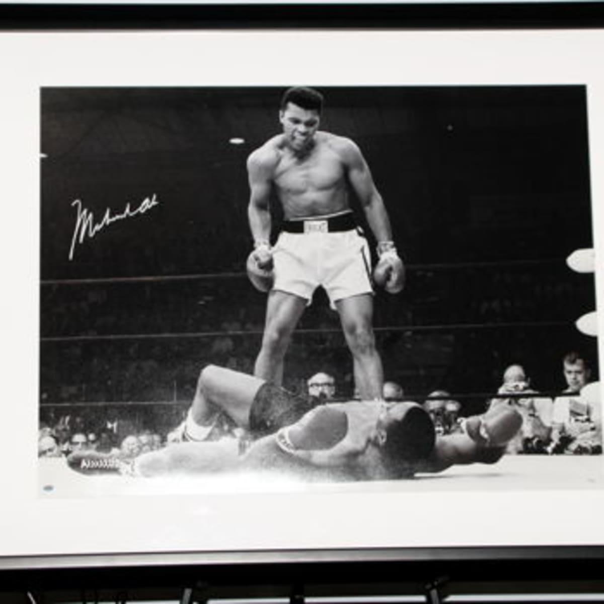Autographed Muhammad Ali photo at Halo House gala