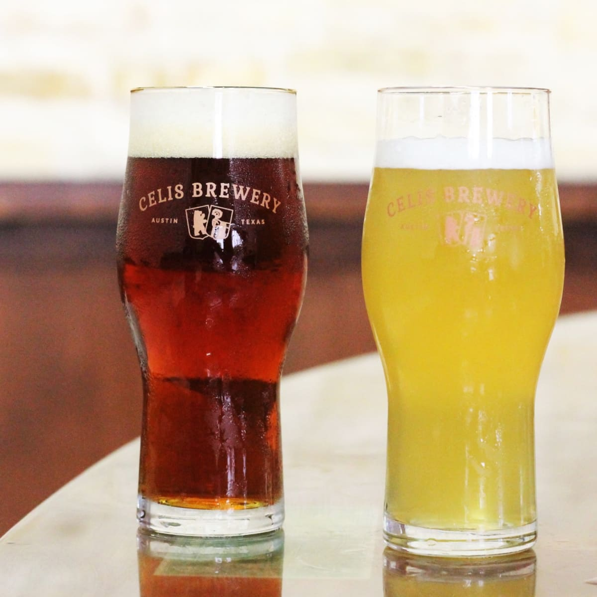 Celis Brewery pale bock and white