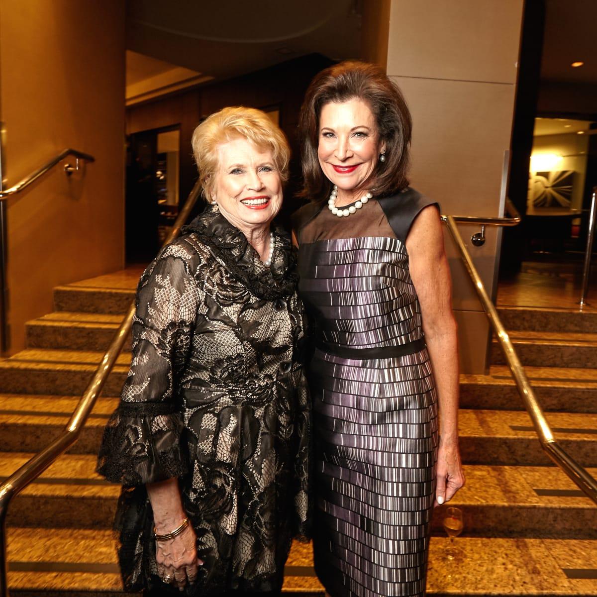 Houston, Bush Library Foundation dinner, November 2017, Ginger Blanton, Betty Hrncir