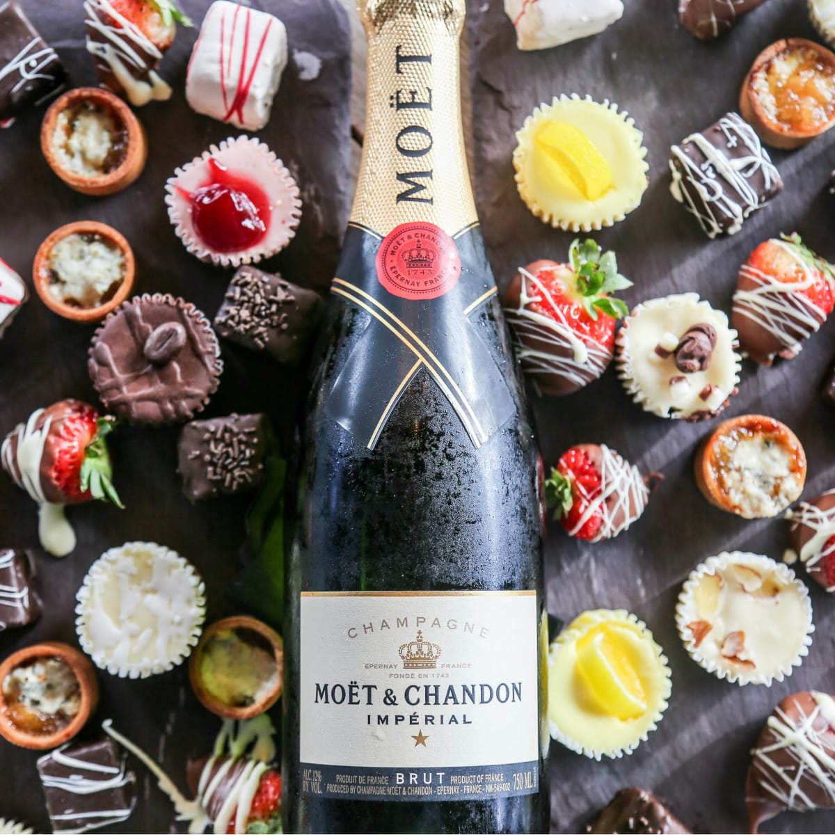 Champagne and desserts