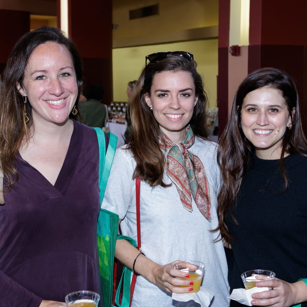 Teresa Fougerousse, Catherine Bradford, Rachel Ficke, 2017 Dallas CultureMap Holiday Pop-up