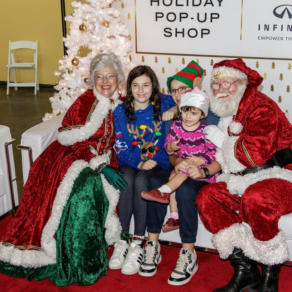 Santa pictures, CultureMap Holiday Pop-up Shop 2017