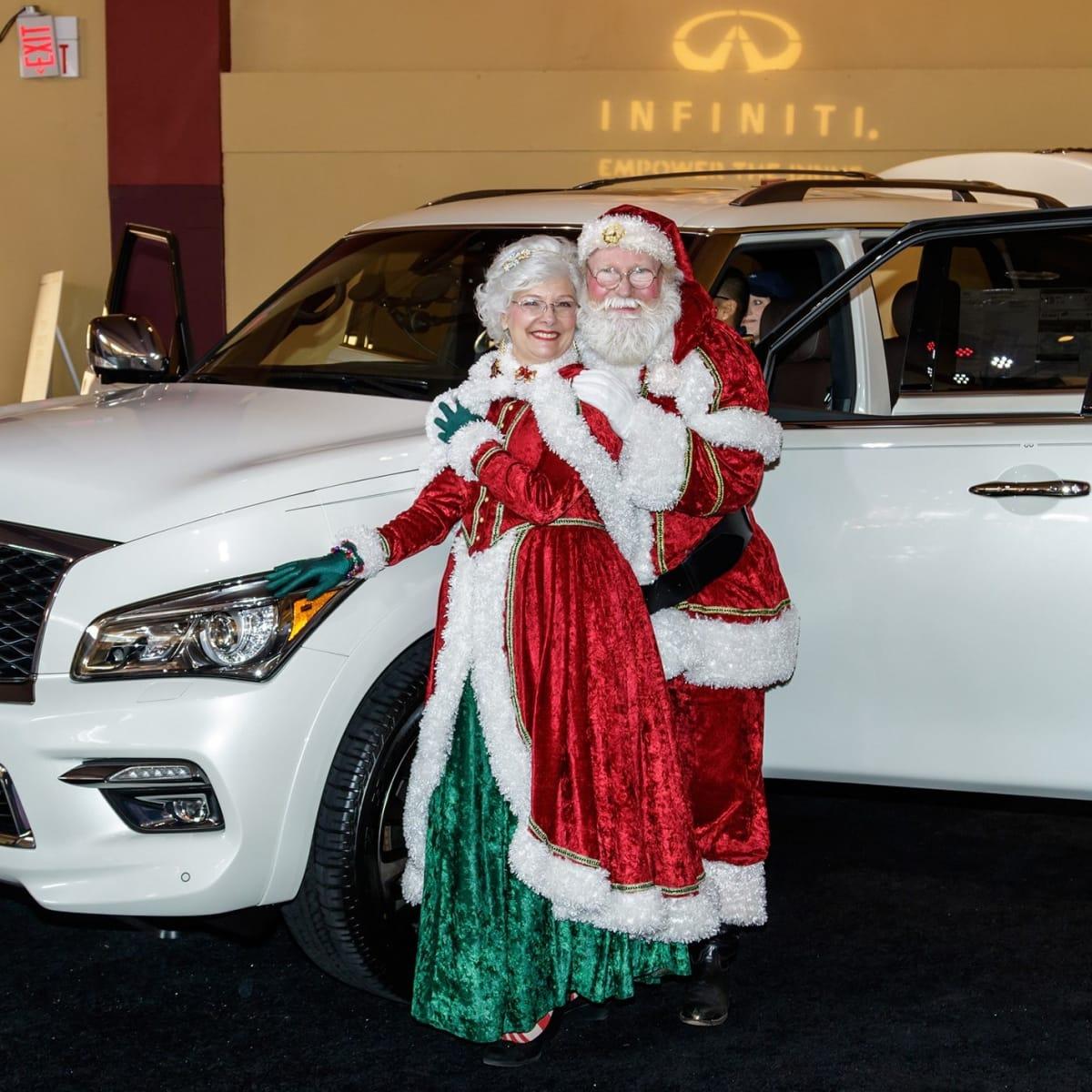Santa, Infiniti, CultureMap Dallas Holiday Pop-up 2017