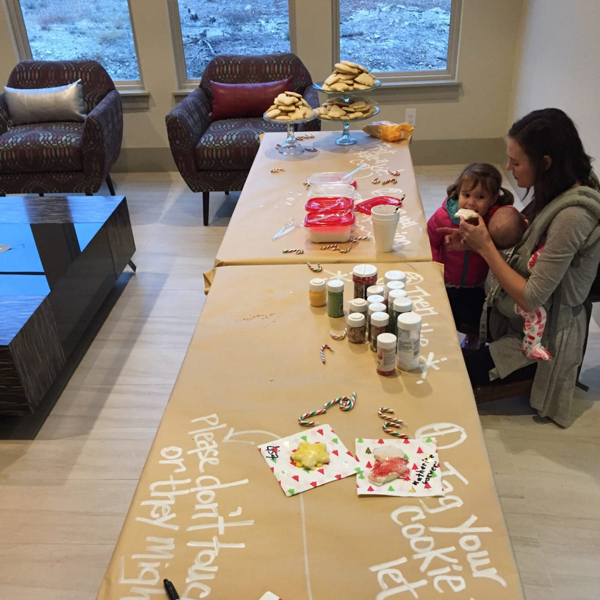 The decorate-your-own-cookie station at 105 Lajitas