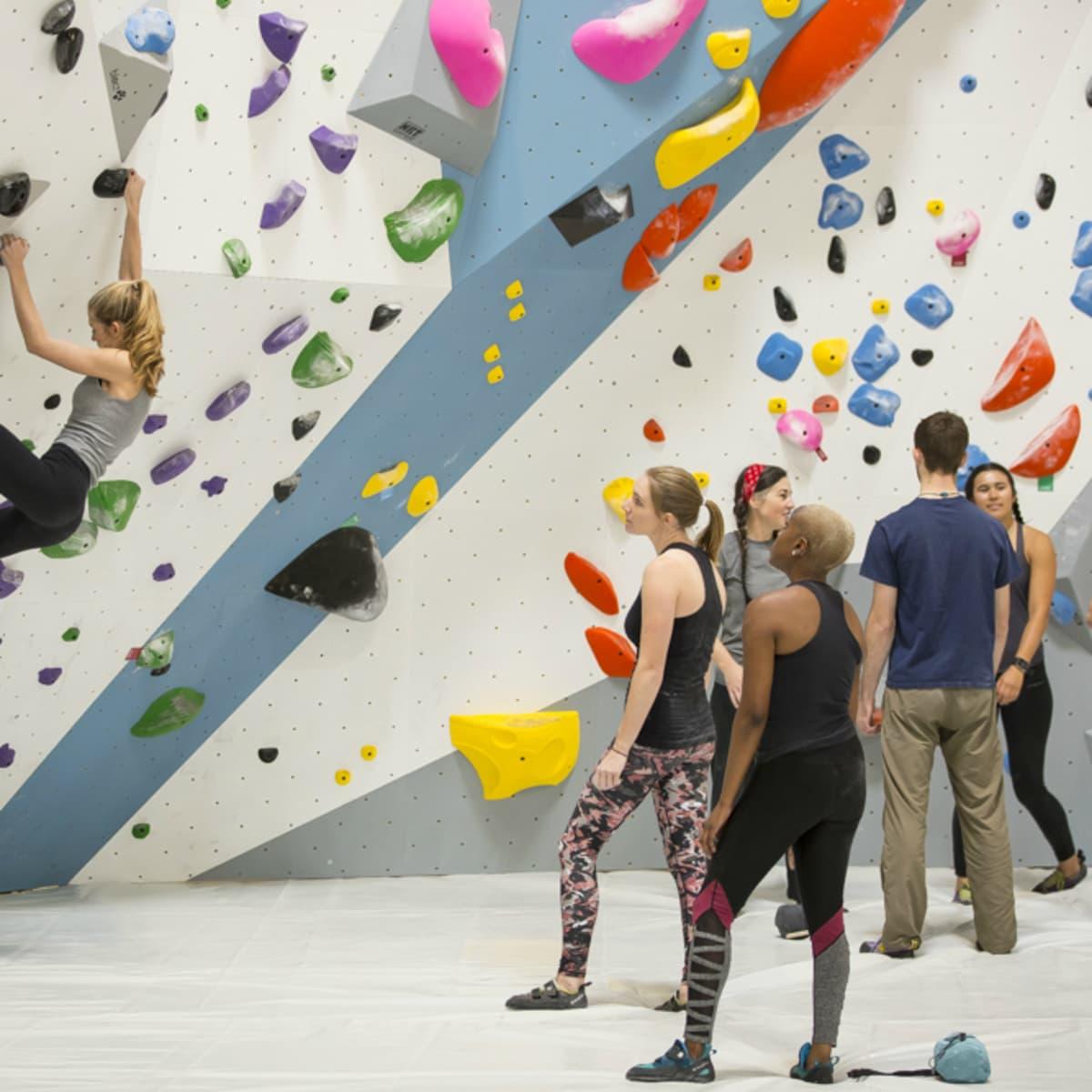 Houston Silver Street rock gym woman climbing