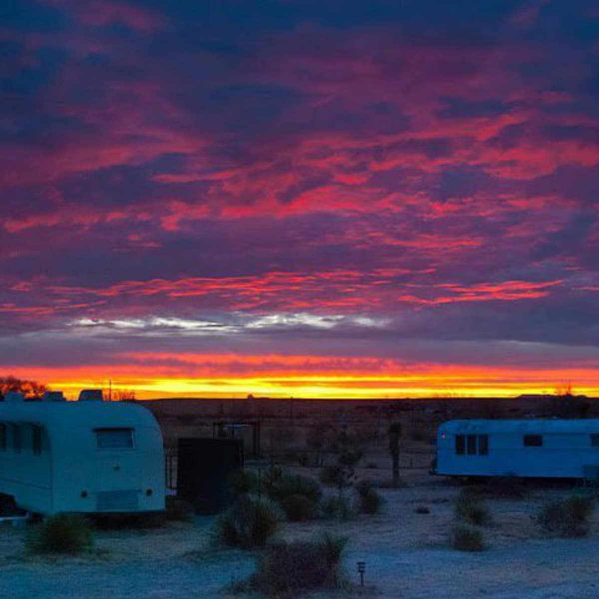 El Cosmico West Texas sunset