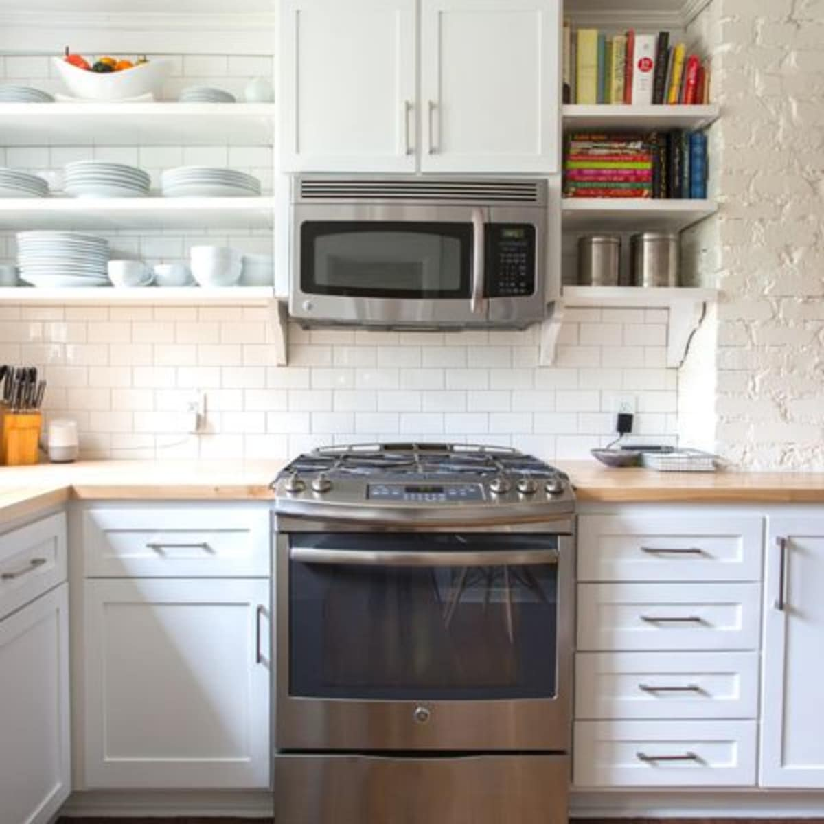 Houzz kitchen with wood