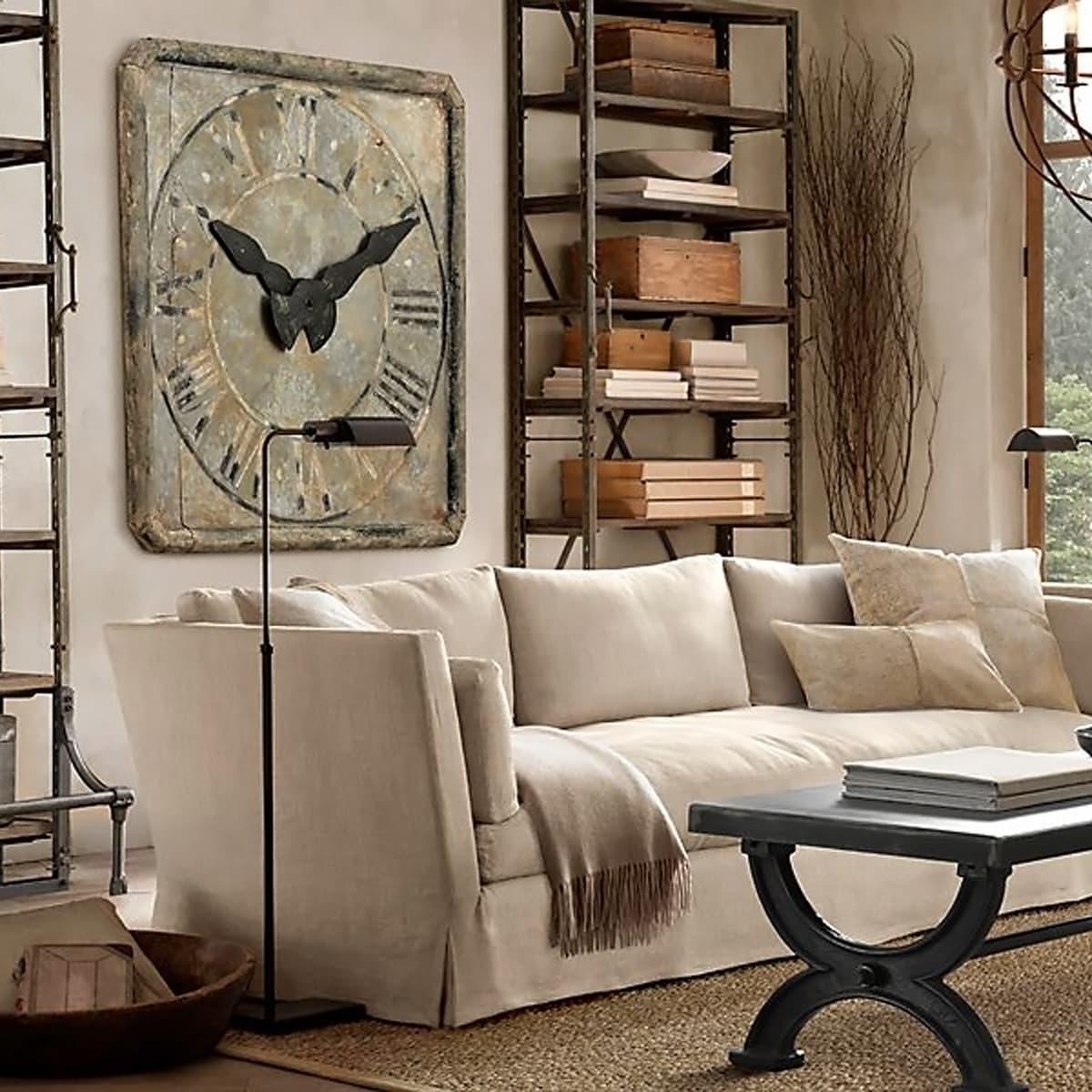 Restoration Hardware Grand Saint Etienne stone wall clock