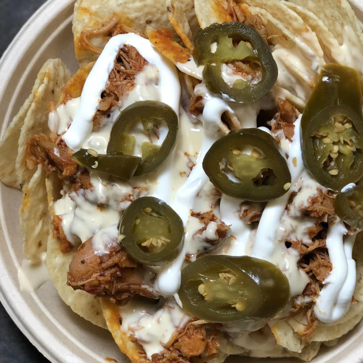 Toyota Center chicken adobo nachos Ken hoffman