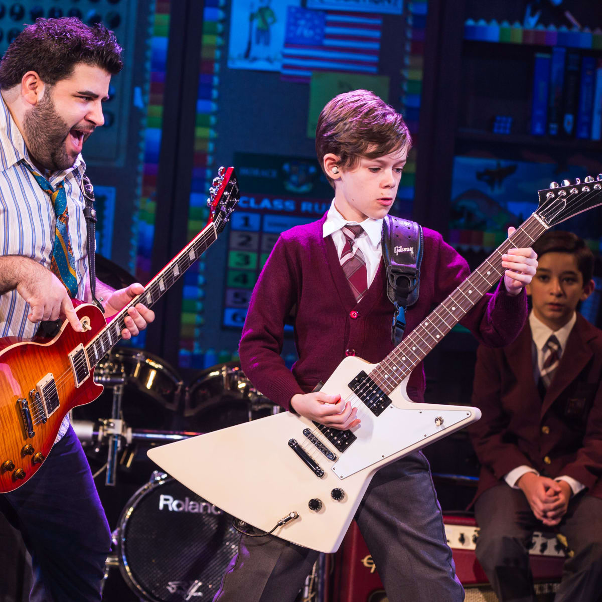 School of Rock Rob Colletti and Phoenix Schuman