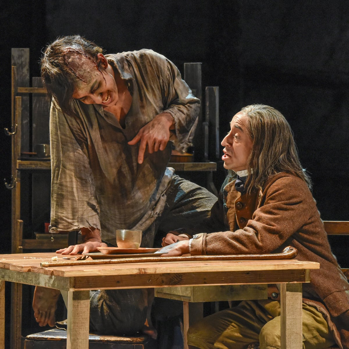 Kim Fischer and Blake Hackler in Dallas Theater Center's Frankenstein