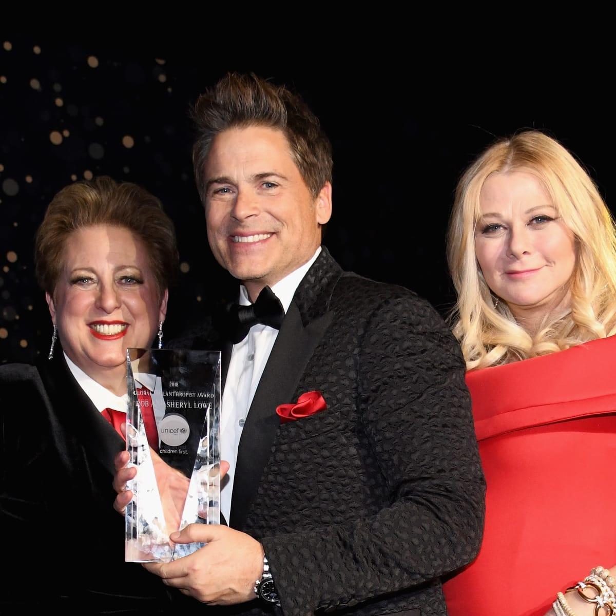 Rob Lowe, Sheryl Lowe, Caryl Stern, Unicef Gala 2018