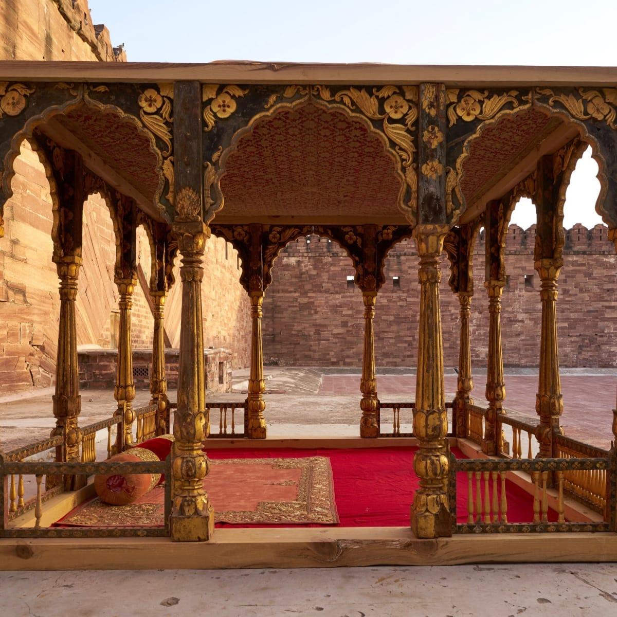 MFAH: Peacock in the Desert, Pavilion (Baradari)