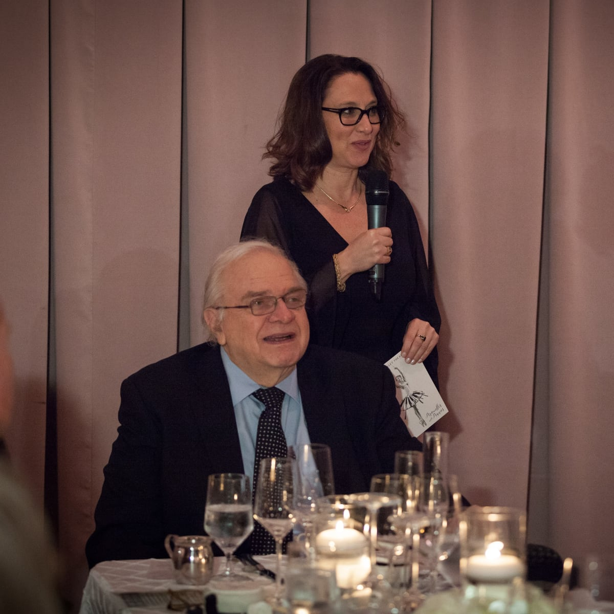 TBT artistic director Ben Stevenson, O.B.E. and Executive Director Vanessa Logan, TBT Gala 2018