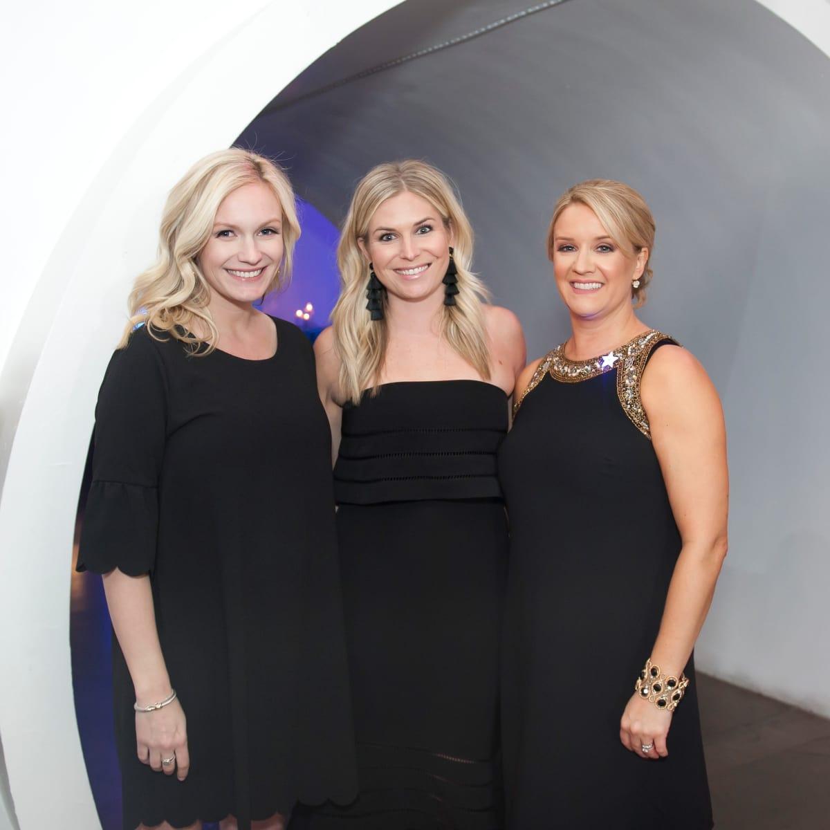 Junior League Viva Big D party 2018, Katie German, Brooke Burnett and JLD Auction Party Chair Heather McNamara