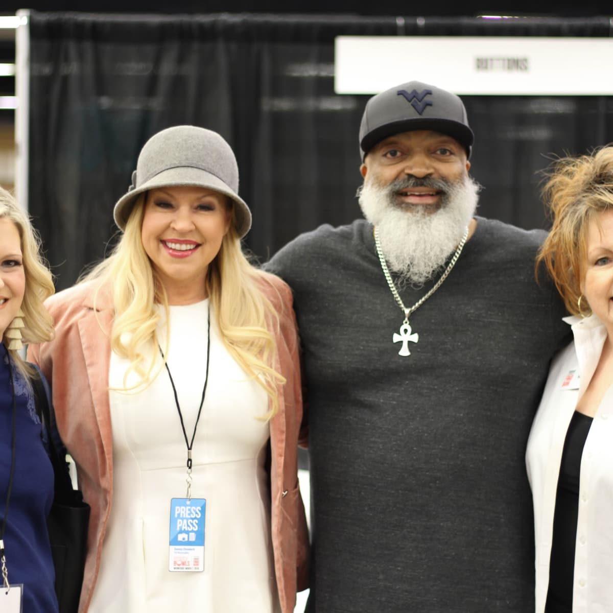 Heather Dombeck-Wakefield, Tammy Dombeck, Chef Keith Hicks and Ms. B, Fort Worth Empty Bowls 2018