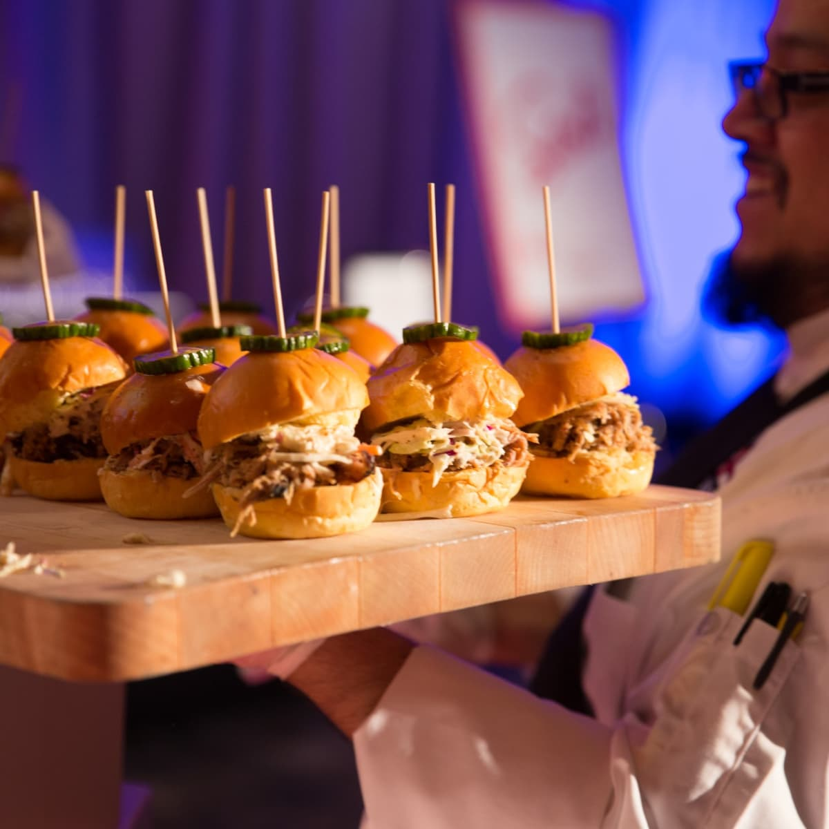 Bonne Sante 2018, Chef Mike Barraza, Pulled pork sliders, House of Blues