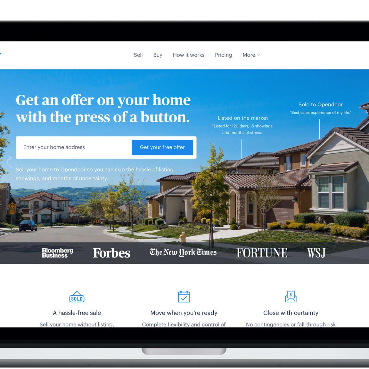 Opendoor website preview