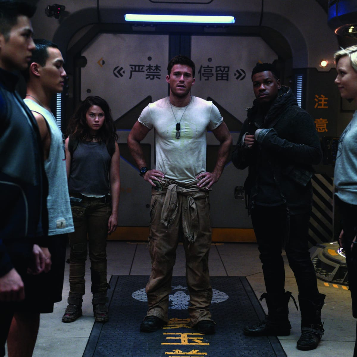 Cailee Spaeny, Scott Eastwood, and John Boyega in Pacific Rim Uprising