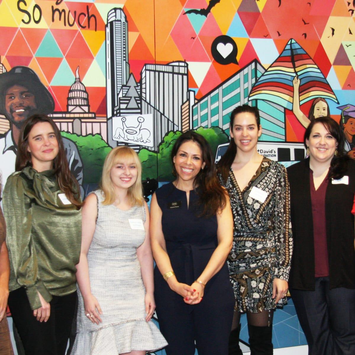 Cassie Swenson, Lindsay Muse, Chelsea Toler-Hoffmann, Celeste Flores, Catherine Lucchesi, Amy Morris, Christine Herlin at St. David's Foundation 