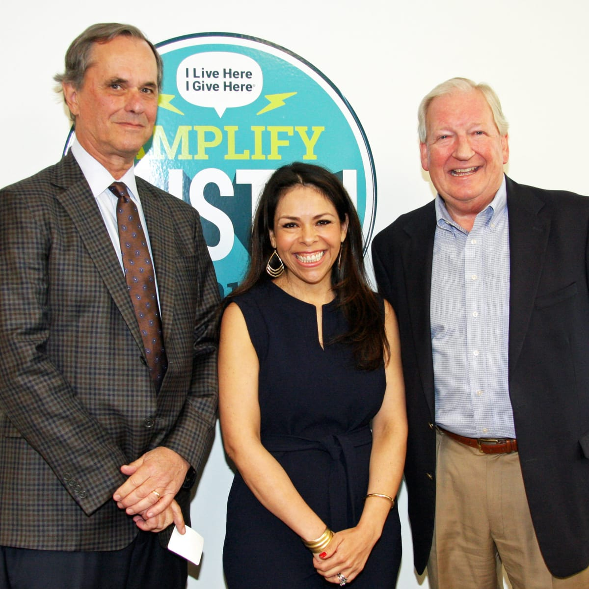 Peter Pincoffs​ (​St. David's Foundation​,​ Board Chair​)​, Celeste Flores​ (​Executive Director​,​ I Live Here I Give Here​)​, Earl Maxwell​ (​CEO ​at ​​St. David's Foundation​)​ at St. David's Foundation