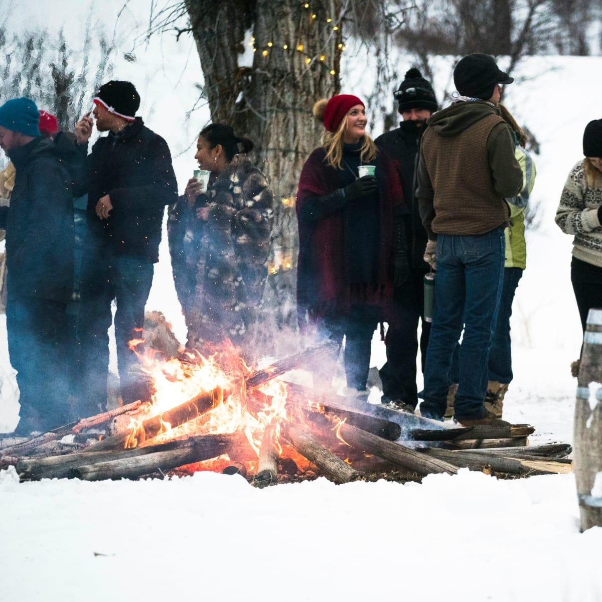 Hoffman - travel - bonfire party - Montana Ranch at Rock Creek