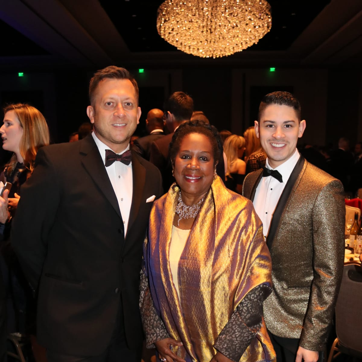 Ray Scott, Rep. Sheila Jackson Lee, Josh Lewis