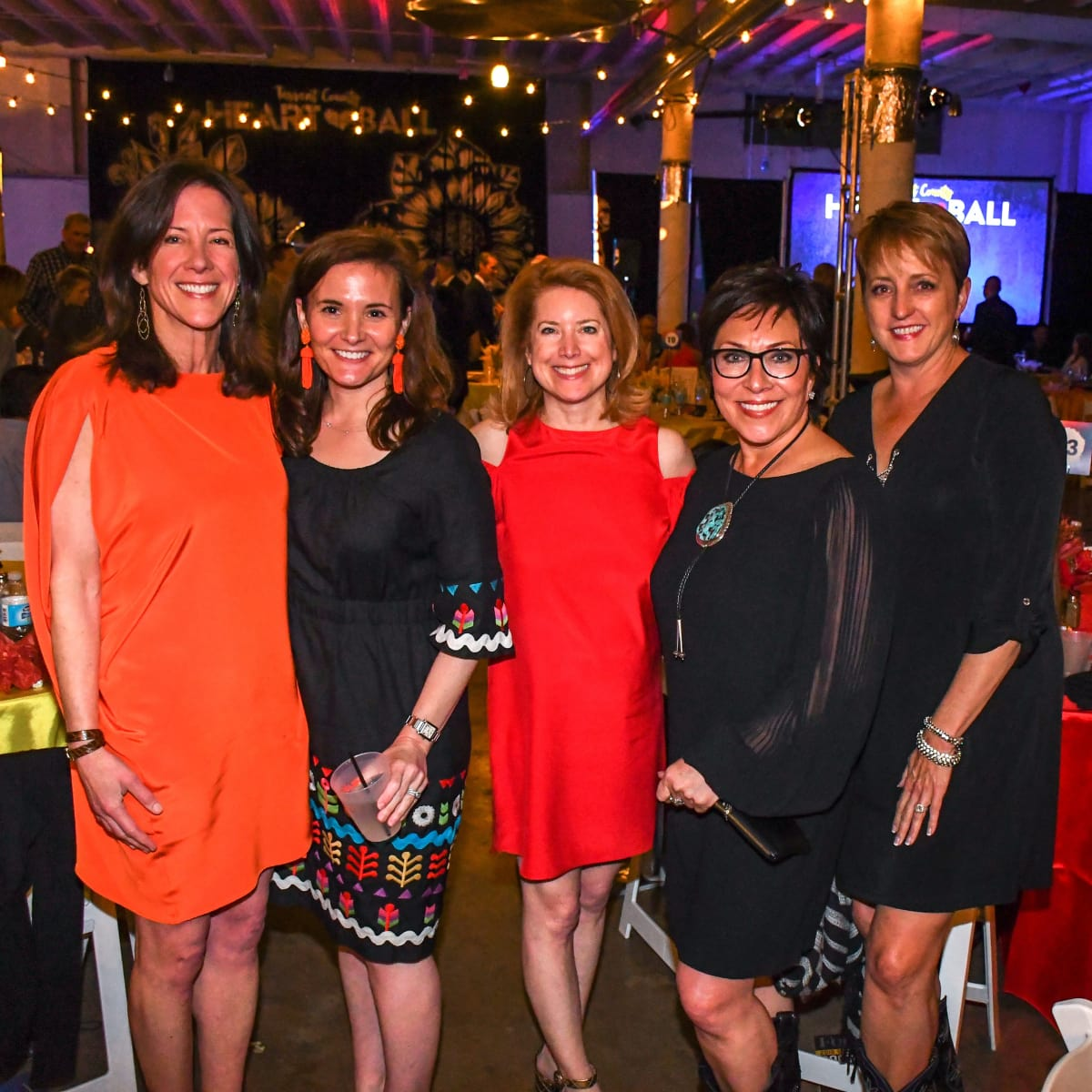 Stephanie Bernal, Courtney Radcliffe, Laura Baldwin, Sandra McGlothlin, Anne Holland, Tarrant Heart Ball