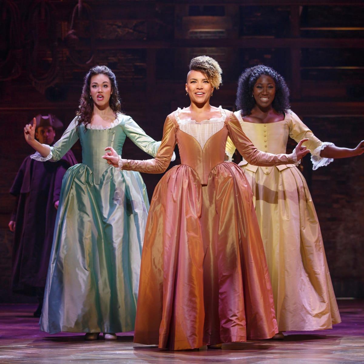 Hamilton Touring Production-Solea Pfeiffer, Emmy Raver-Lampman, Amber Iman