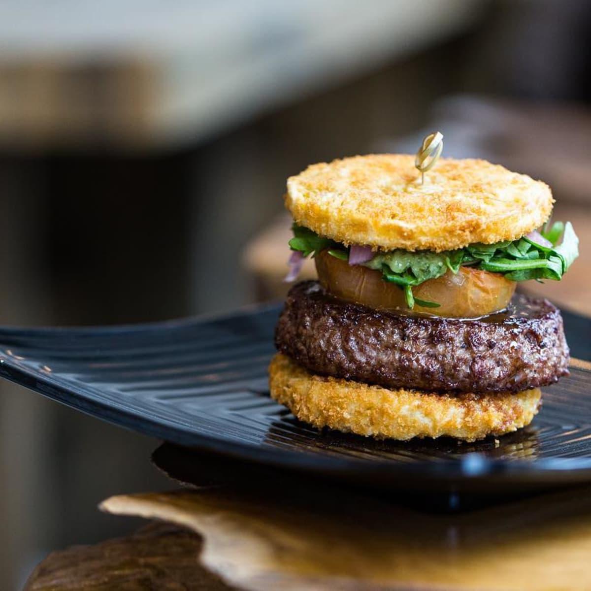 Yoshi Ramen ATX burger