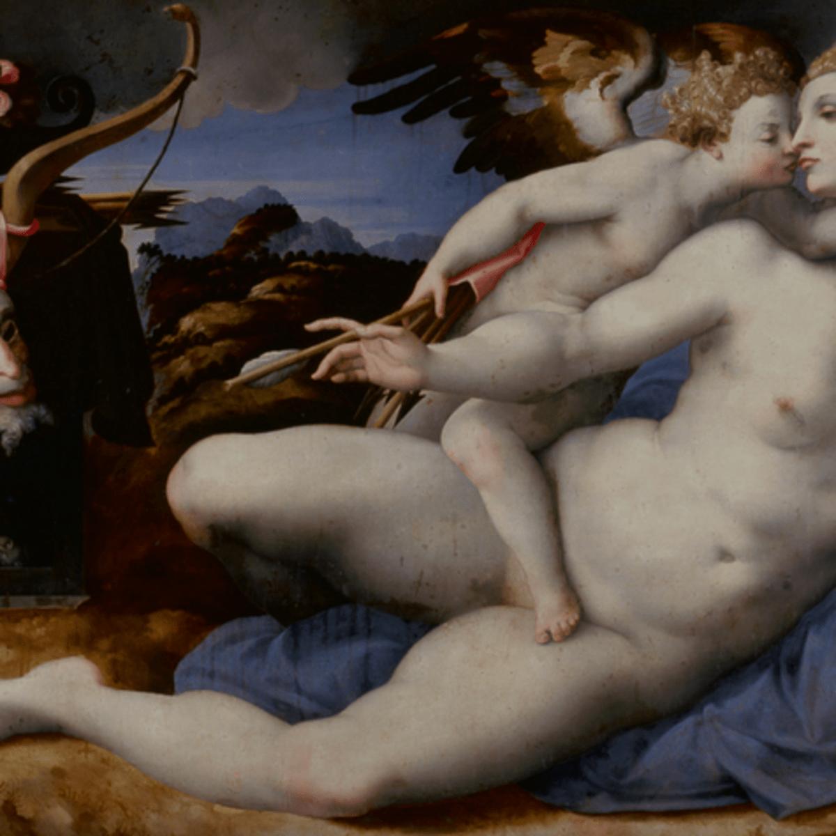 Cartoon of Venus Kissed by Cupid