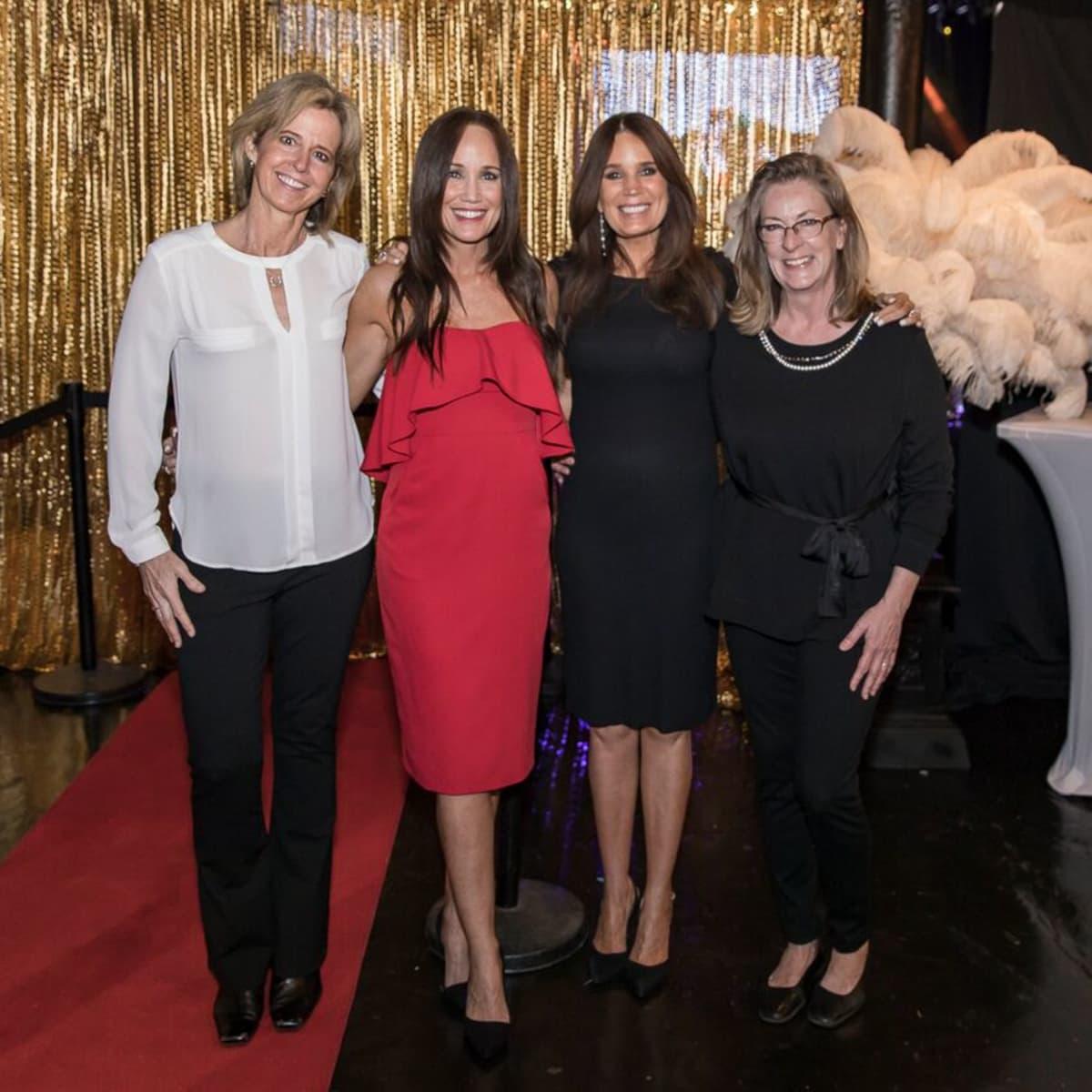 Equest After Dark Gala 2018, Stephany Younge, Michelle King, Debi Hensley, Jude Kazmaier