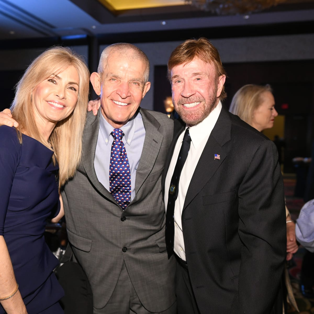 Houston Chuck Norris Kickstart Gena Norris, Jim McIngvale and Cuck Norris
