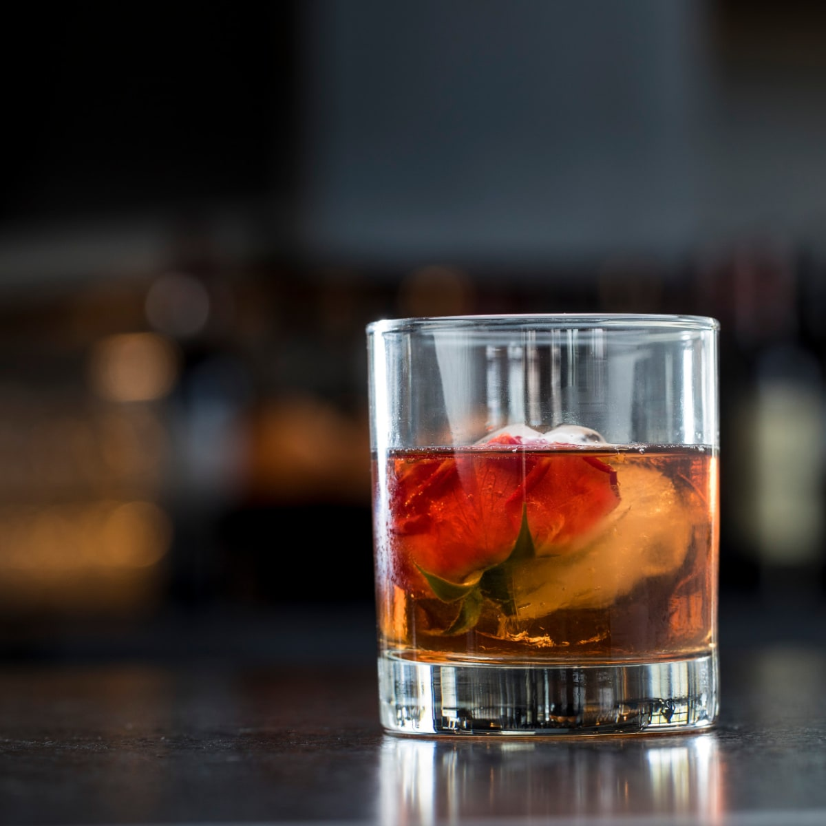 Poitin Old Graceful Rose cocktail