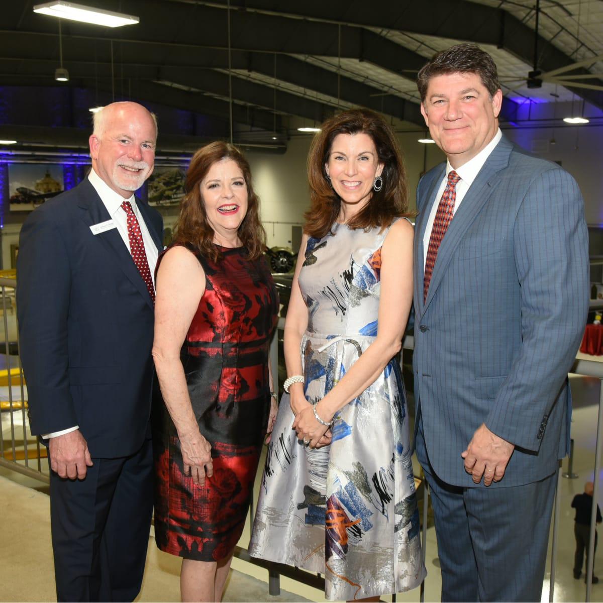 Flight Museum Gala Steve Biegel, Diane Biegel, Lisa Sherrill Russell Sherrill