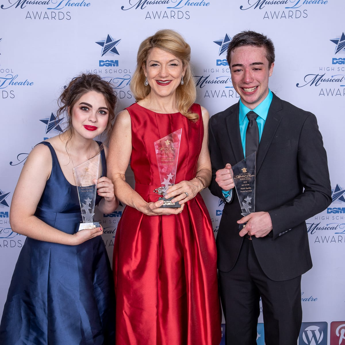 Sierra Roberson, Victoria Clark, and Noah Aguilar