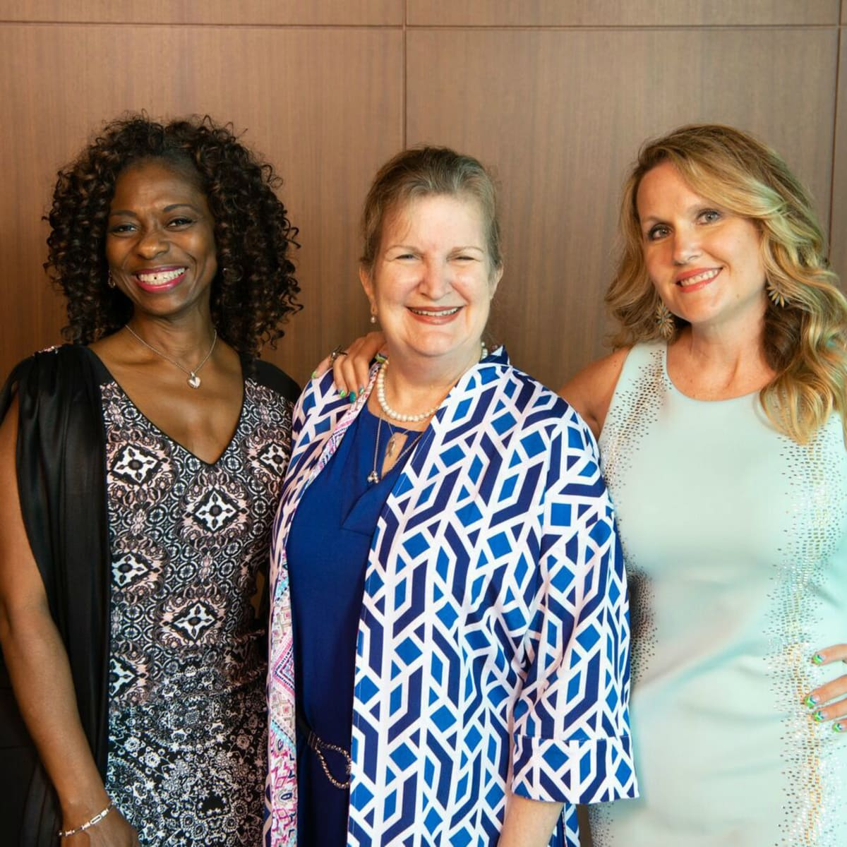 Houston CanCare Survivors Luncheon Dr.  Donna  Y.  Laws,  Iris  Gerken,  and  Jenna  D'Amico