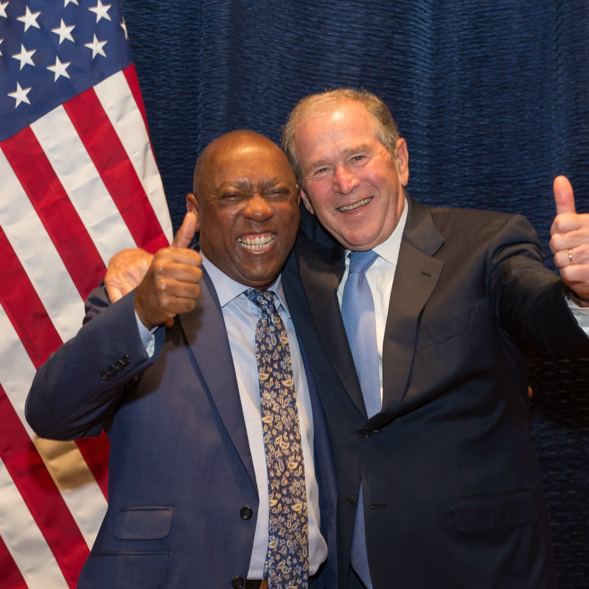 Holocaust Museum LBJ award Mayor Sylvester Turner and President George W. Bush