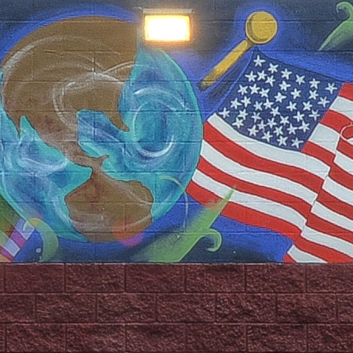 Por La Raza East Austin mural Holly neighborhood