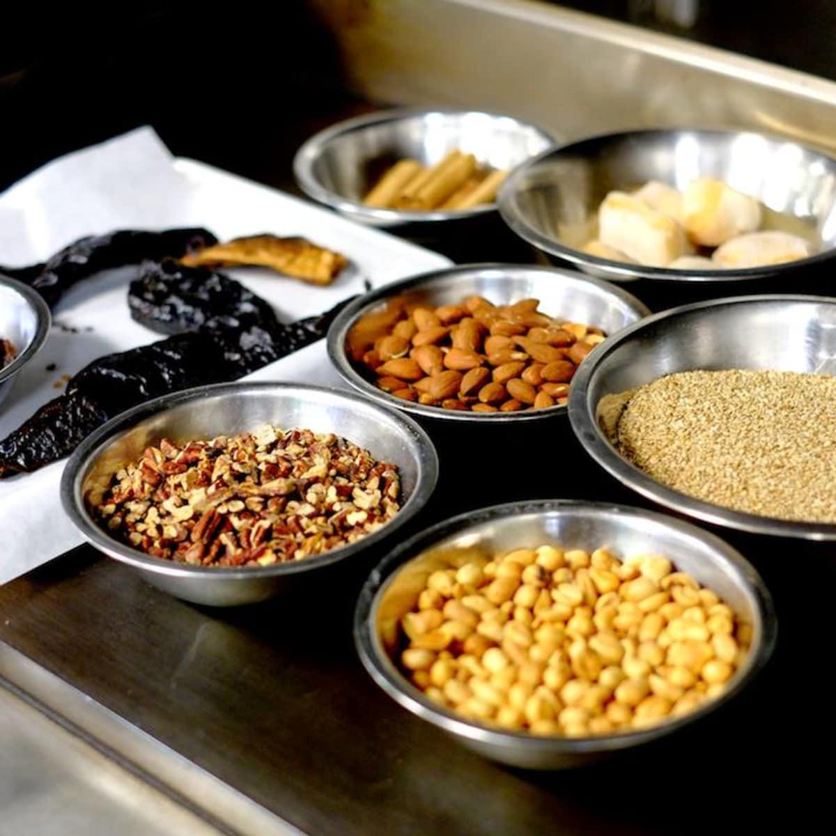 El Naranjo mole negro ingredients