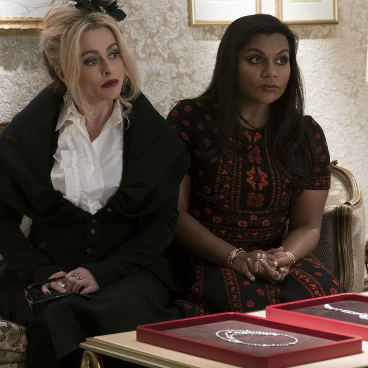 Helena Bonham Carter and Mindy Kaling in Ocean's 8