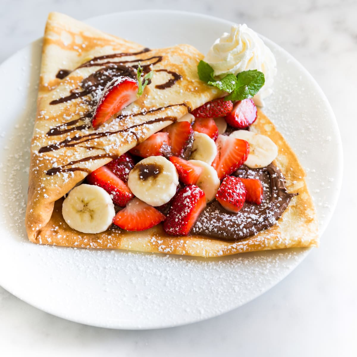 Sweet Paris Nutella crepe