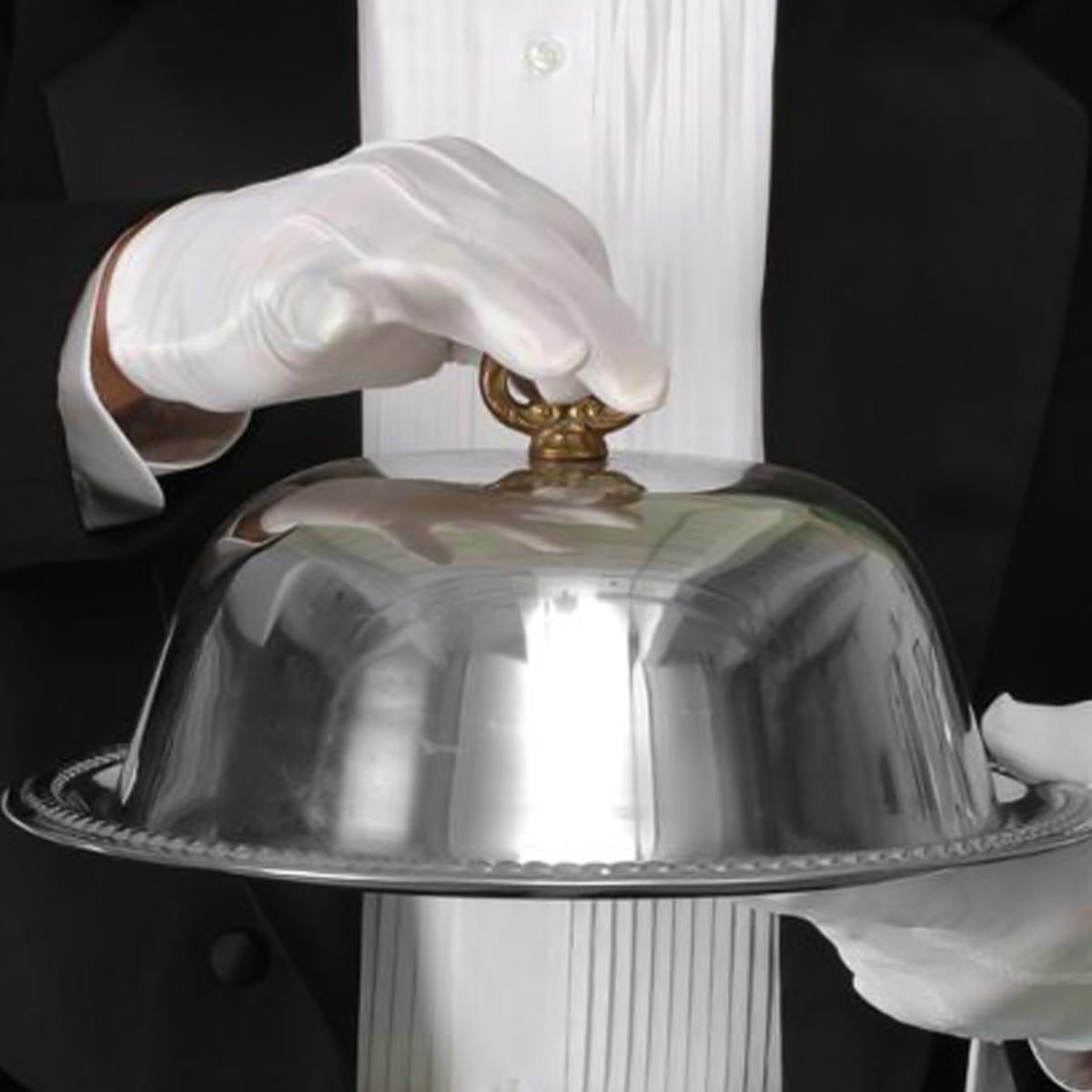 dome waiter white gloves