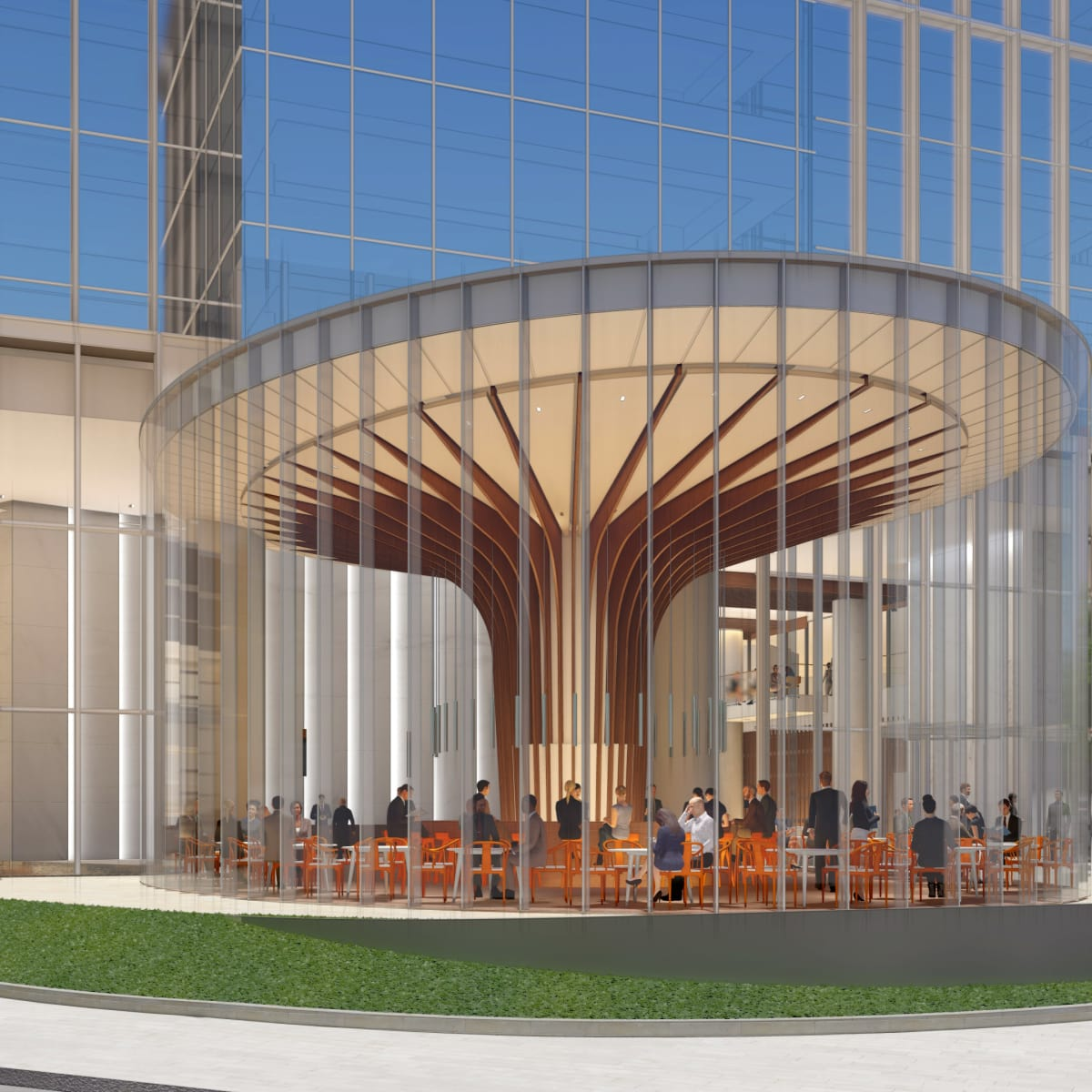 Striking new downtown tower reimagines old houston for Royal motors houston tx