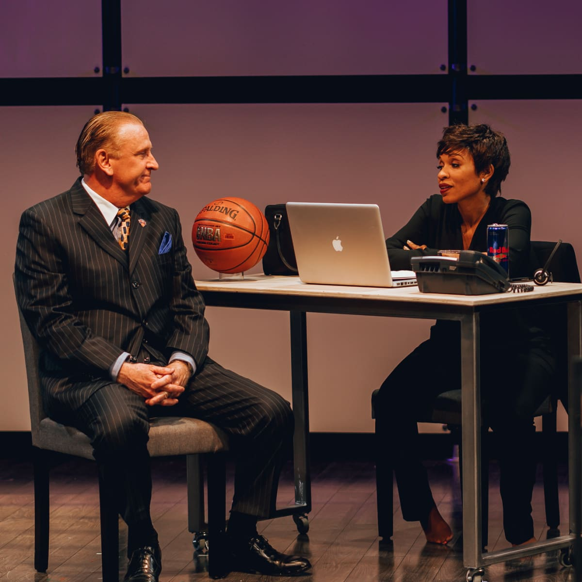 Bob Hess and Kenneisha Thompson in King Liz at Amphibian Stage Productions