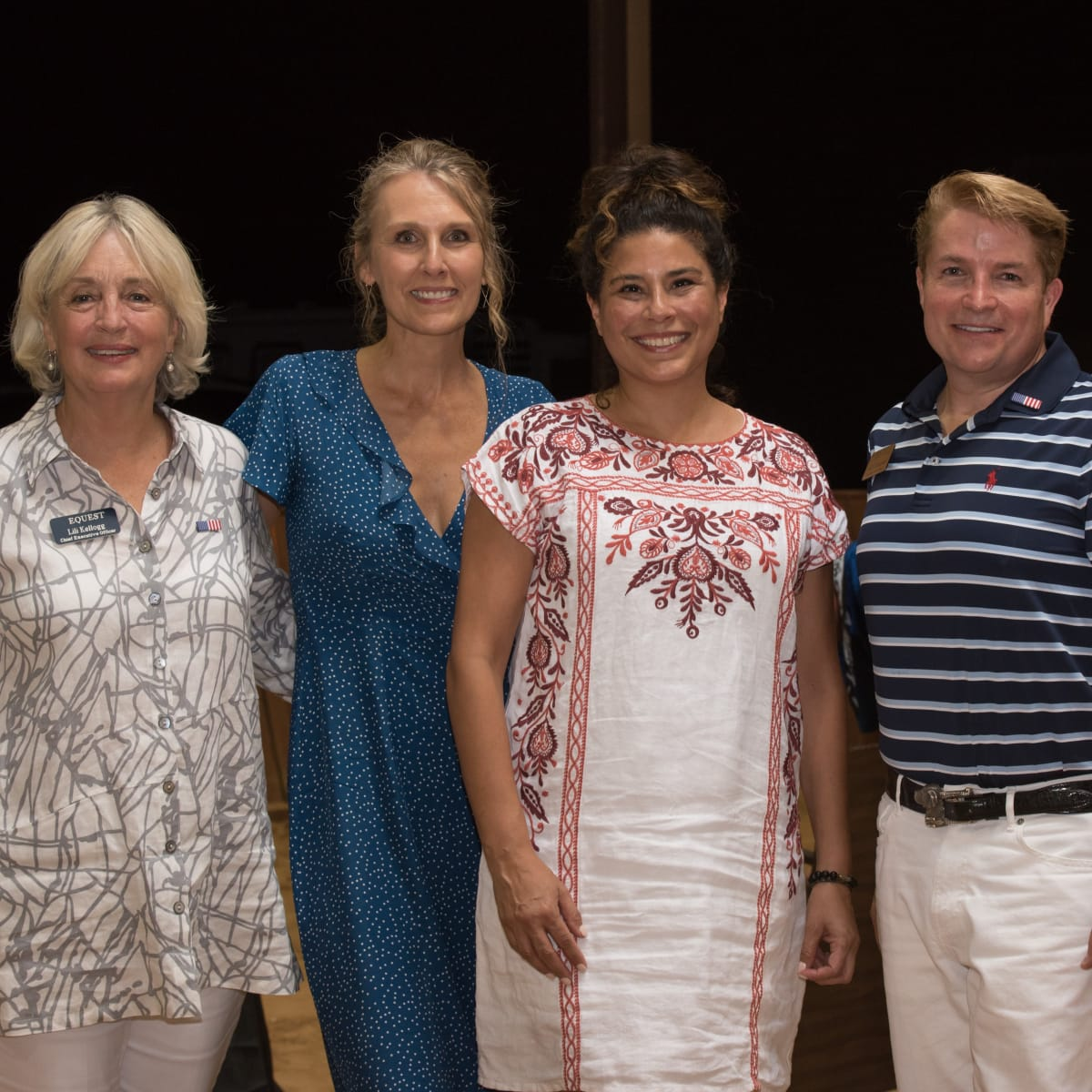 Lili Kellogg, Carolyn Anderson, Norma Jean Schaltenbrand, Andy Steingasser, Equest Boots and Salutes