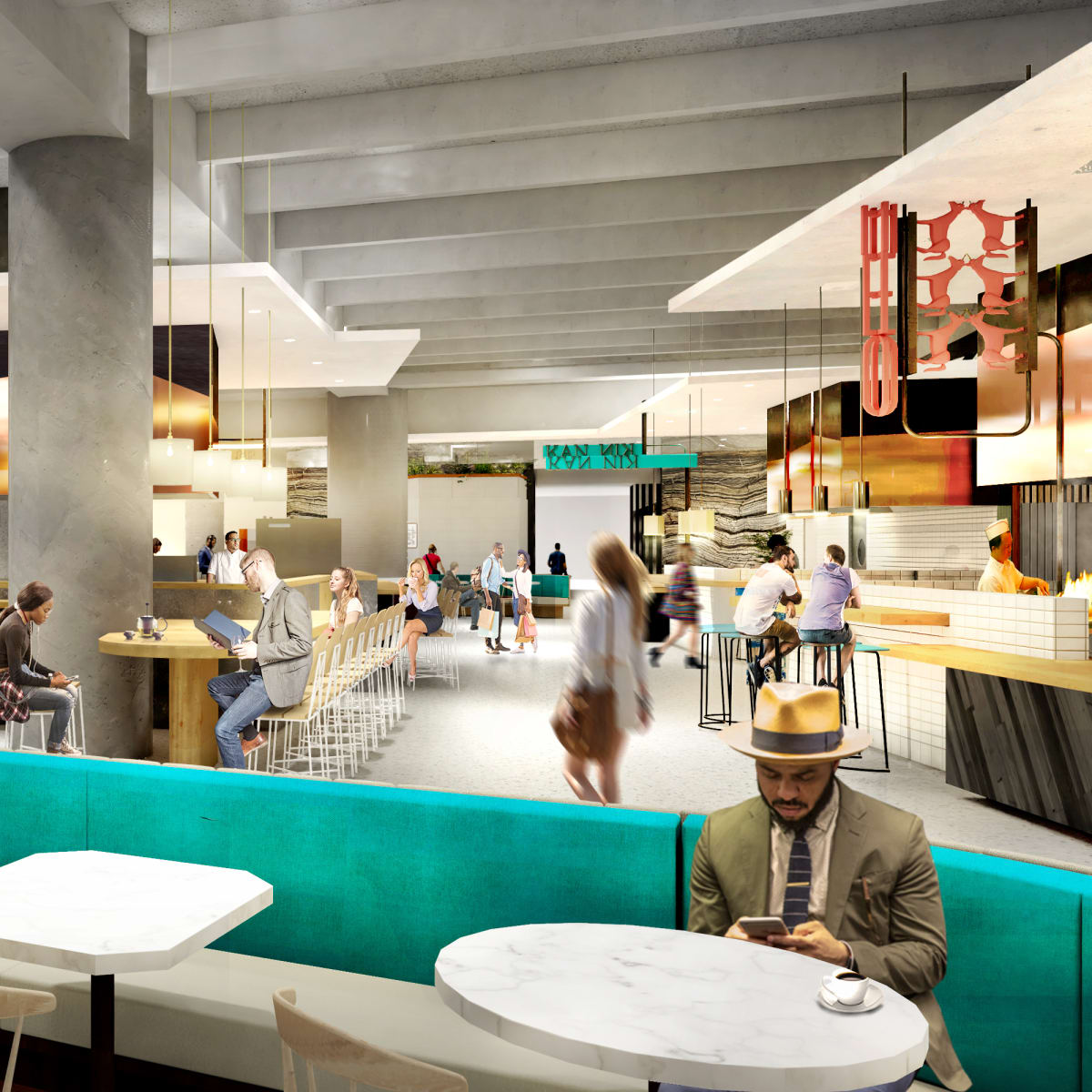 Capitol Tower Understory culinary market